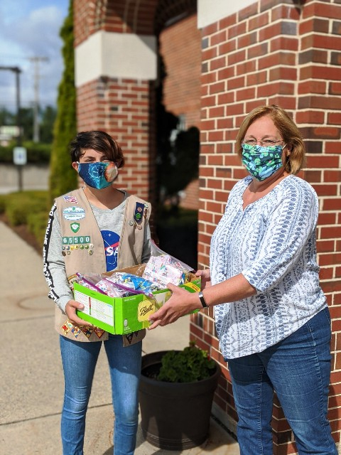 Donation from Girl Scout Troop 65500 Member