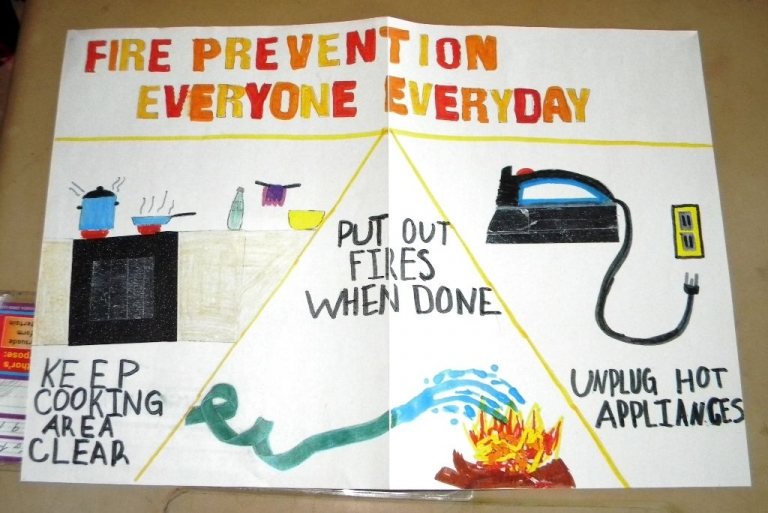 2019 PCS Fire Prevention Poster Winners